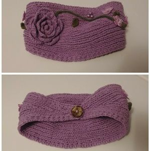 Accessories - Purple head wrap with flowers